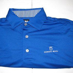 FootJoy Blue SS Dorado Golf Polo Shirt Mens M FJ